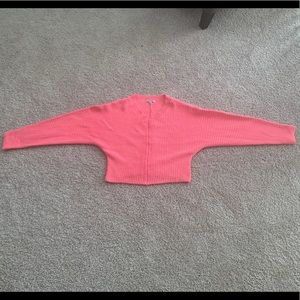 A candy pink sweater!